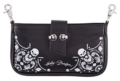 Harley-Davidson Women's Willie G Skull Bandana Pouch Leather Hip Bag w/Strap