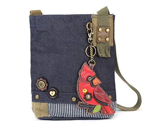 Chala Patch Cross-Body Women Handbag, Canvas Messenger Bag – Cradinal Denim