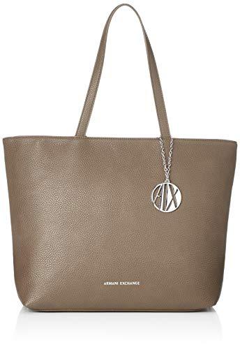 A|X Armani Exchange Zip Top Shoulder Bag, Taupe 112