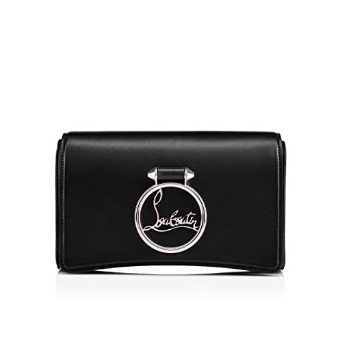 Christian Louboutin Black Rubylou Leather Clutch New