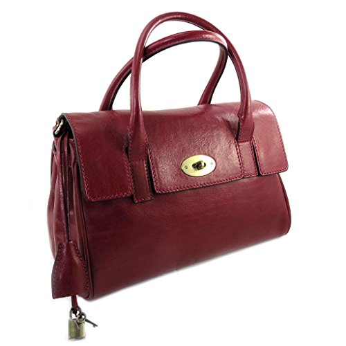 "Leather bag 'Gianni Conti'red – 32x20x16 cm (12.60""x7.87""x6.30"")."