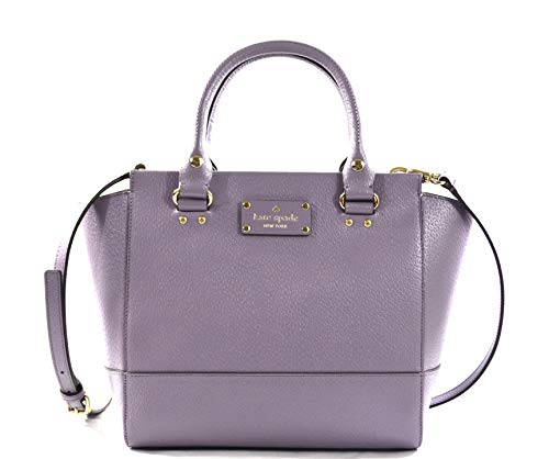 Kate Spade Wellesley Small Camryn Leather Convertible Crossbody Bag Purse Handbag, Lush Lilac