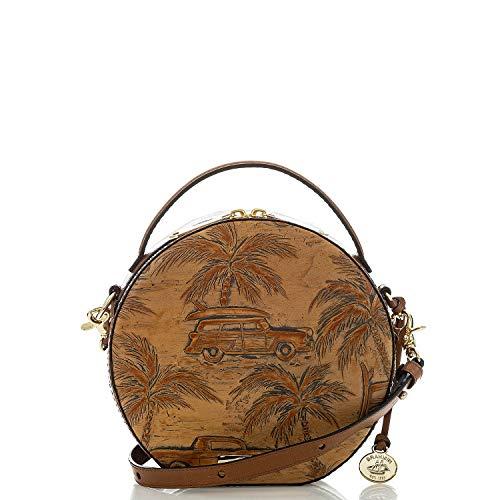 Brahmin Lane Tan Copa Cabana emb. leather Crossbody