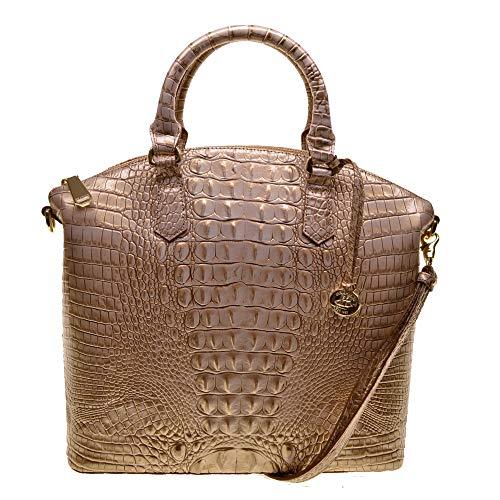 Brahmin Lg Duxbury Croco emb leather satchel Sugar Cane Melbourne