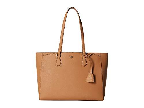 Tory Burch Women's Robinson Small Tote Bag, Cardamom, Tan, One Size