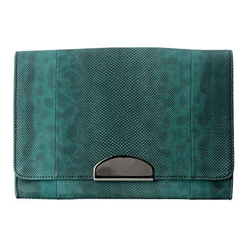 "Maison Margiela ""11"" Women's Multi-Color Snake Skin Leather Clutch Bag"