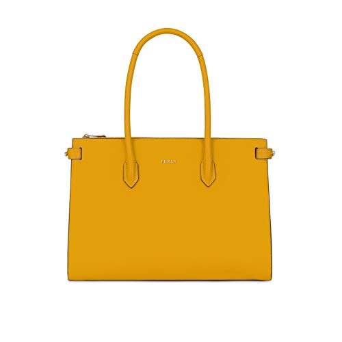 Furla Pin Ladies Medium Yellow Ginestra Leather Tote 978667