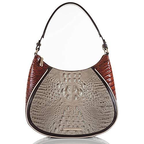 Brahmin Amira Shoulder Bag Croco emb Leather Hemlock Westwood