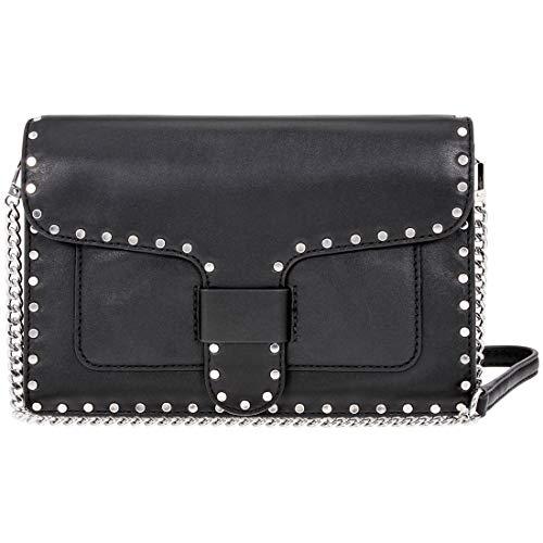 Rebecca Minkoff Midnighter Ladies Medium Black and Blue Leather Crossbody Bag HF17EMIX74-001