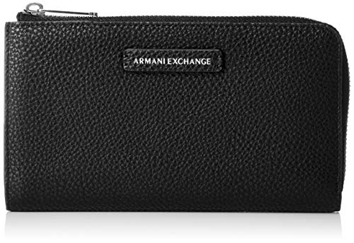 A|X Armani Exchange Round Zip Wallet, nero – black 77