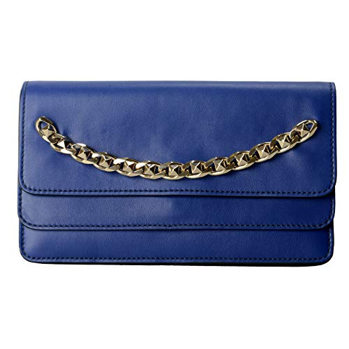 Valentino Women's Blue 100% Leather Rockstud Clutch Bag