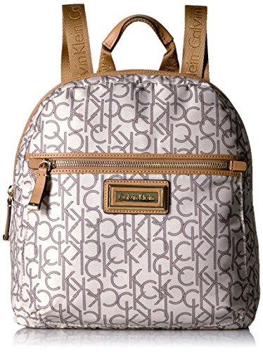 Calvin Klein Belfast Nylon Key Item Backpack, alm/khk combo