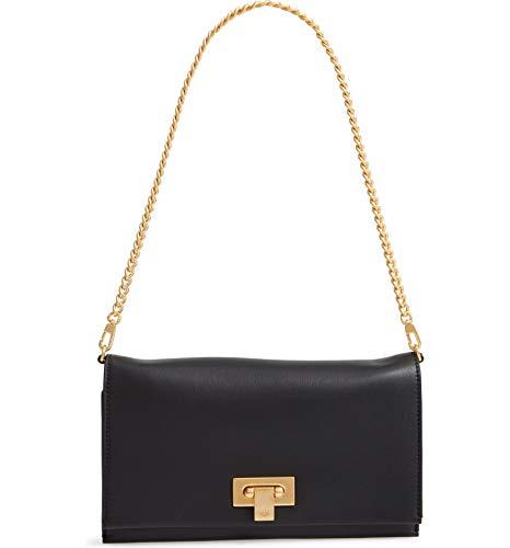 Tory Burch Women's Carmen Black Leather Mini Handbag Clutch