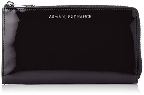 A|X Armani Exchange Round Zip Wallet, nero – black 164