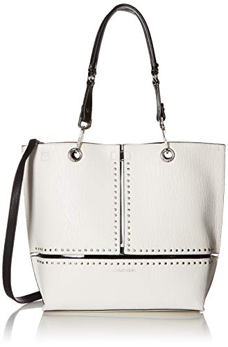 Calvin Klein Sonoma Reversible Novelty North/South Tote Bag, white studded