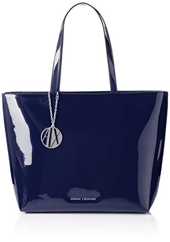 A|X Armani Exchange Zip Top Shoulder Bag, Navy 226