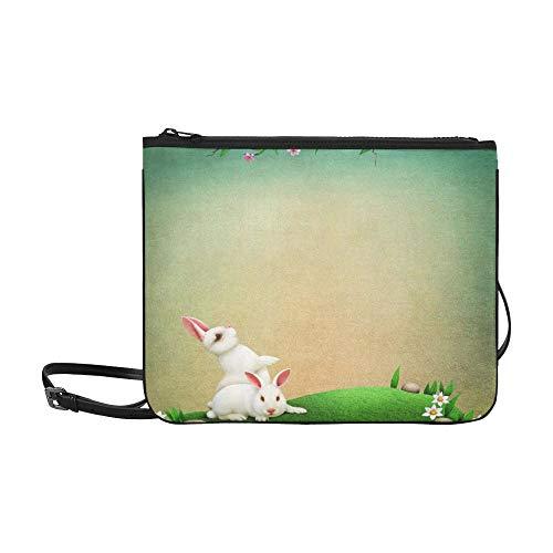 Vintage Holiday Greeting Postcard For Eve Of Easte Pattern Custom High-grade Nylon Slim Clutch Bag Cross-body Bag Shoulder Bag