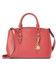 Ralph Lauren Bennington Top Handle Bag With Sling, Leather, Red