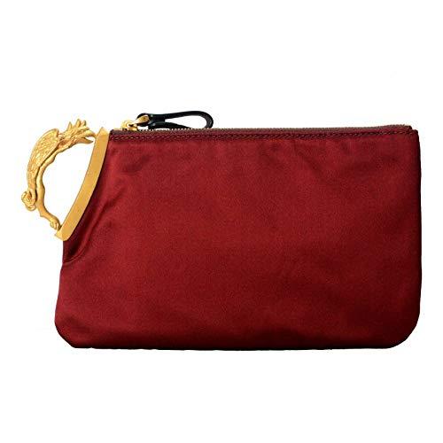 Valentino Women's Vine Red Griffin Finger Clutch Bag