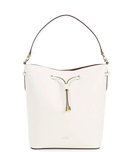 Lauren Ralph Lauren Debby Drawstring Bucket Bag, Vanilla/Brown