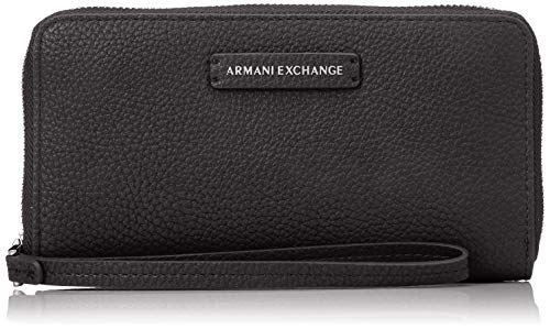 A X Armani Exchange Women's Round Zip Wrislet, navy – navy 80