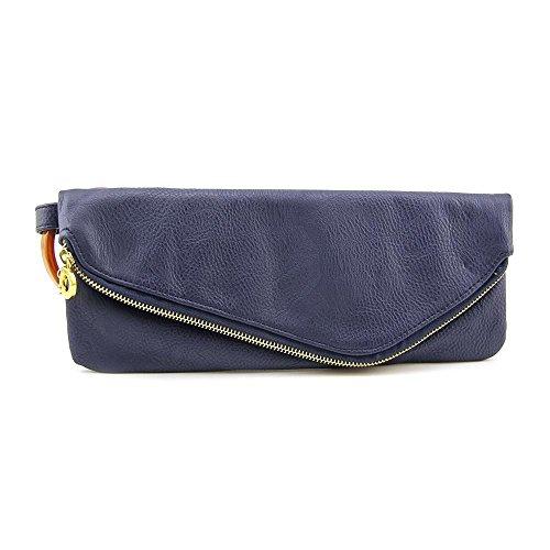 Mud Pie Women's Fashion Leather Cuff Clutch – Navy 812069N