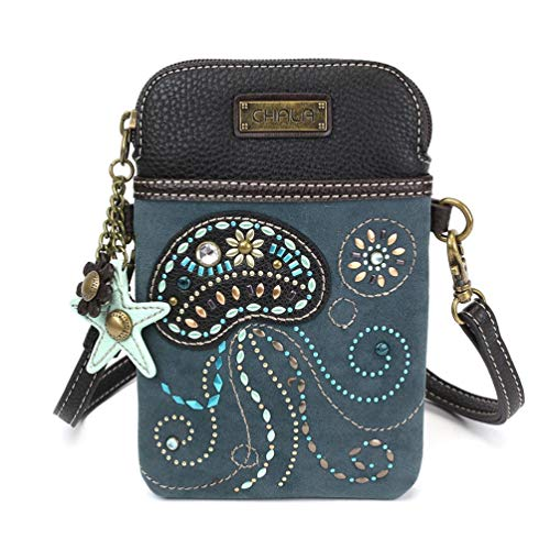 Chala Dazzled Jellyfish Cellphone Crossbody Handbag