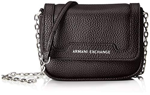 A|X Armani Exchange Chain Strap Small Crossbody Bag, nero – black 294