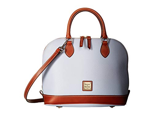 Dooney & Bourke Pebble Grain Zip Zip Satchel Glacier Blue