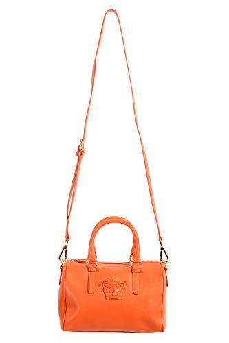 Versace 100% Leather Orange Women's Handbag Shoulder Bag