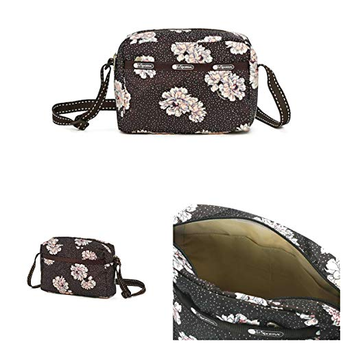 LeSportsac Peony Party Daniella Crossbody Bag, 2 Tone Stitched Strap, Style 2434/Color F083