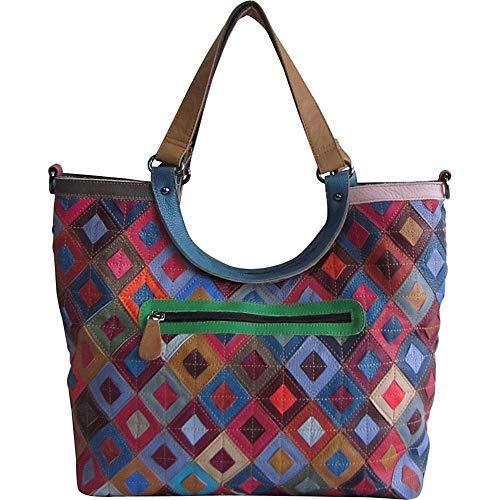 Amerileather Minter Leather Tote Bag