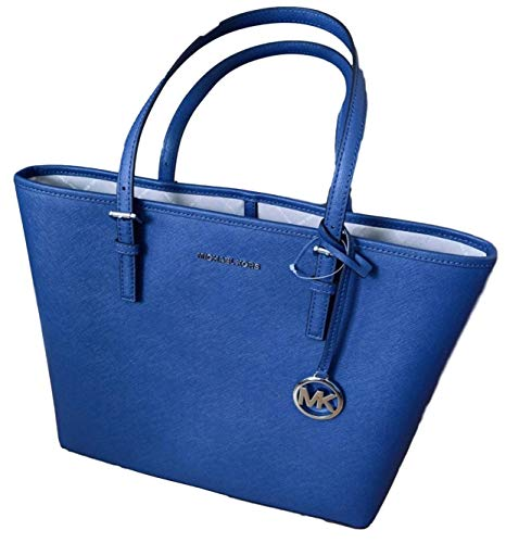 Michael Kors Women's Jet Set Travel Md Carryall Tote – Sapphire