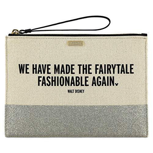 "Disney ""We Have Made the Fairytale Fashionable Again"" Canvas Glitter Clutch by Kate Spade New York"