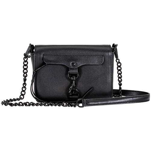 Rebecca Minkoff MAB Flap Ladies Small Black Leather Crossbody Bag XF17MGRX82-001