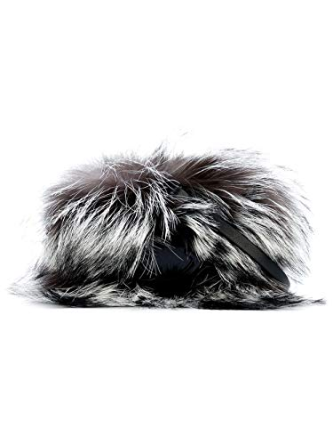 "Moncler""LILIANE"" Women's Real Shadow Fox Fur Leather Clutch Shoulder Bag"