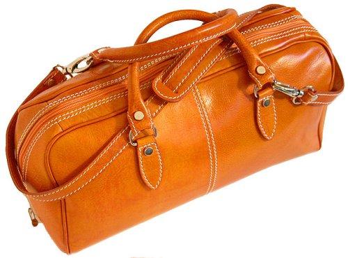 Floto Venezia Mini in Orange Leather – handbag, duffle bag, luggage