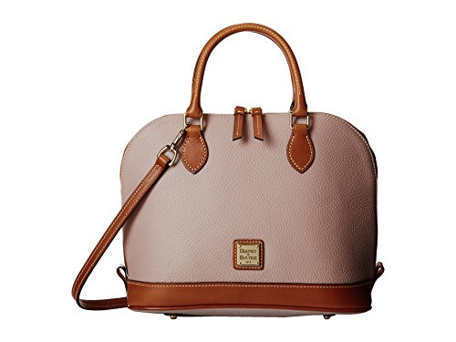 Dooney & Bourke Pebble Zip Zip Satchel  Oyster