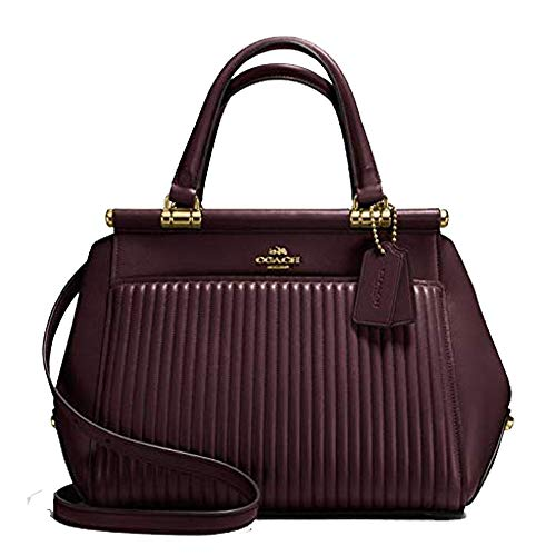 Coach Grace Oxblood Burgundy Quilt Satchel Leather Bag Handbag New