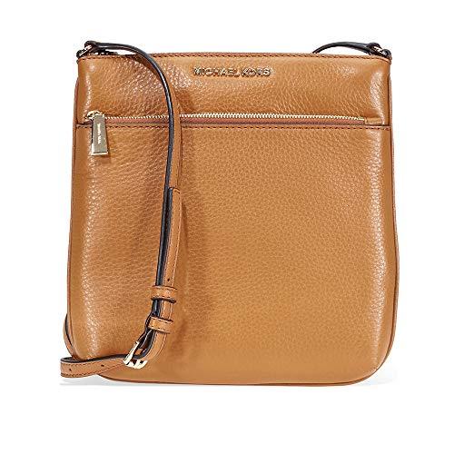 Michael Kors Riley Small Pebbled Leather Messenger Bag- Acron