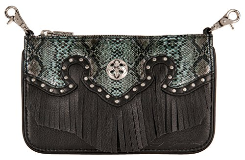 Harley-Davidson Women's Snake Charmer Leather Hip Bag w/Strap HDWBA11284-BLK