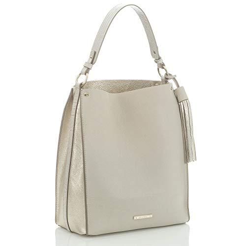Brahmin Nicolette Boyd Leather Shoulder Bag Sand Bond