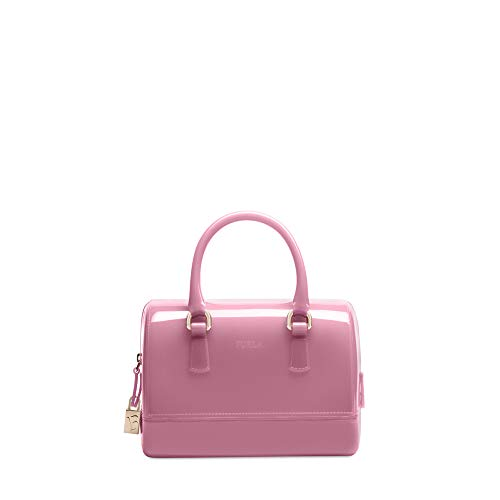 Furla Candy Small Satchel Azalea Fuschia Pink Italy Lock Key Purse Bag New