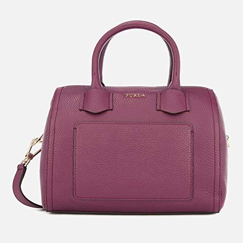 Furla Alba Leather Convertible Handbag (Amaranto)