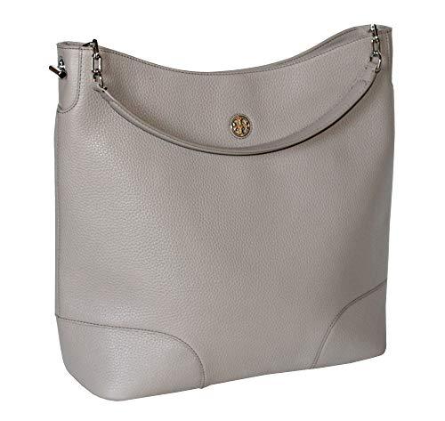 Tory Burch Women's Leather Brody Hobo Handbag 52908 (French Grey)