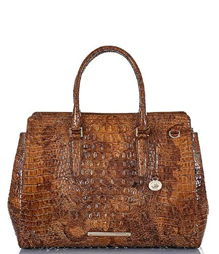BRAHMIN Women's Melbourne Collection Finley Crocodile-Embossed Carryall