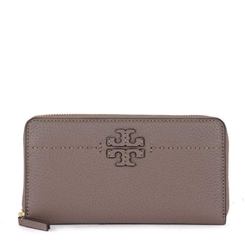 Tory Burch McGraw Continental Wallet – Silver Maple