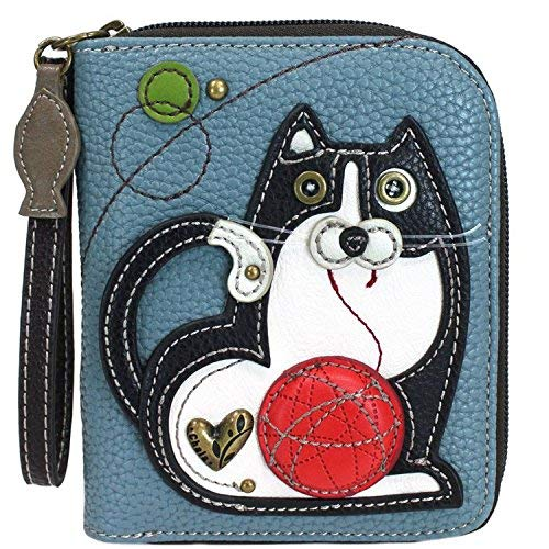 Chala Fat Cat Zip-Around Wristlet Wallet – Cat Lover Gift Cat Mom