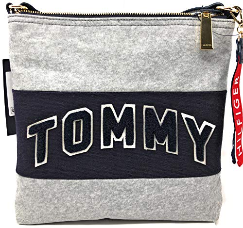 Tommy Hilfiger Womens Patches North/South Crossbody Coated Canvas