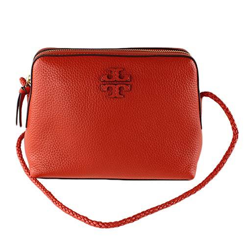 Tory Burch 55440 Britten Poppy Orange Women's Shoulder Bag